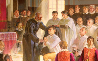Picture of the dressing of the first Piarist novices