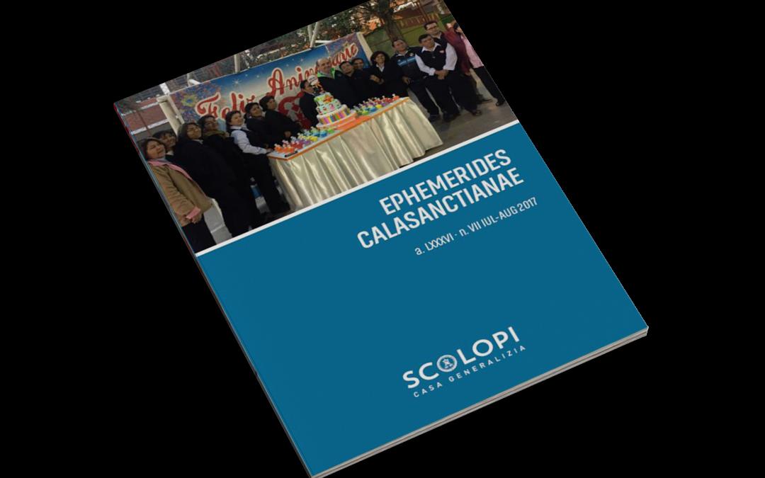 Ephemerides Calasanctianae num. VII IUL-AUG 2017