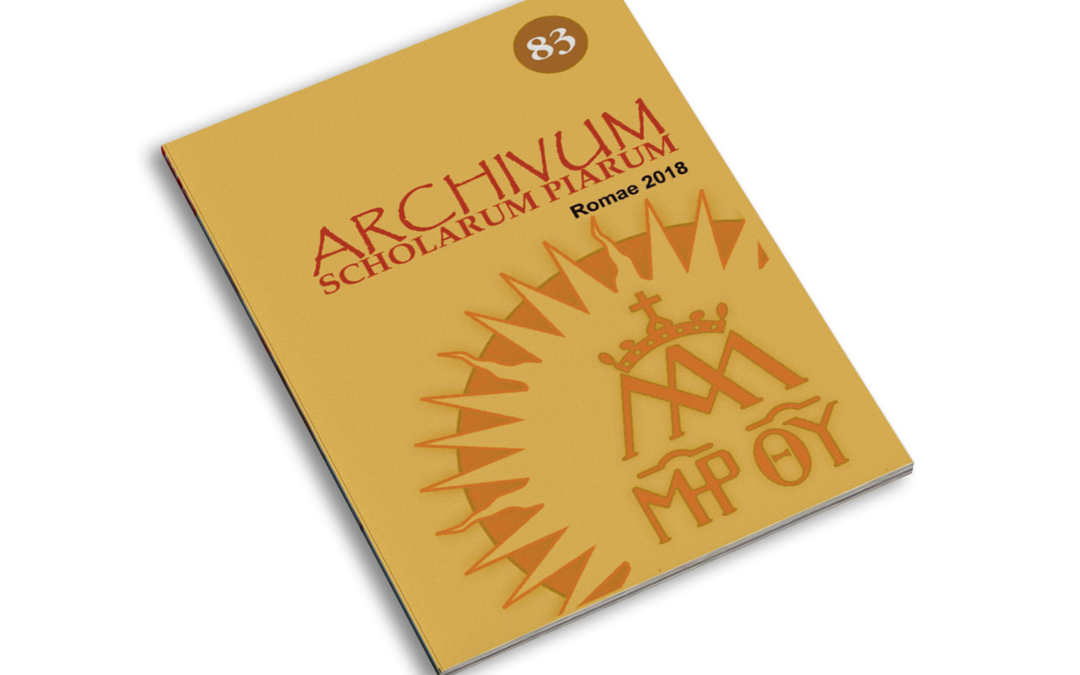 Archivum Scholarum Piarum N. 83 2018