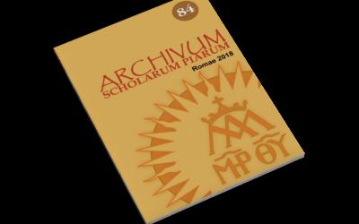 Archivum Scholarum Piarum N 84 2018