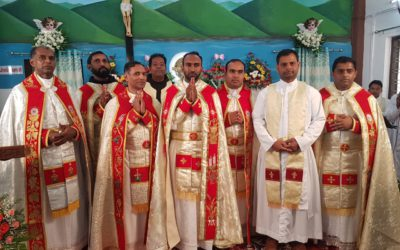 Priestly ordination of Shinto Varghese in India