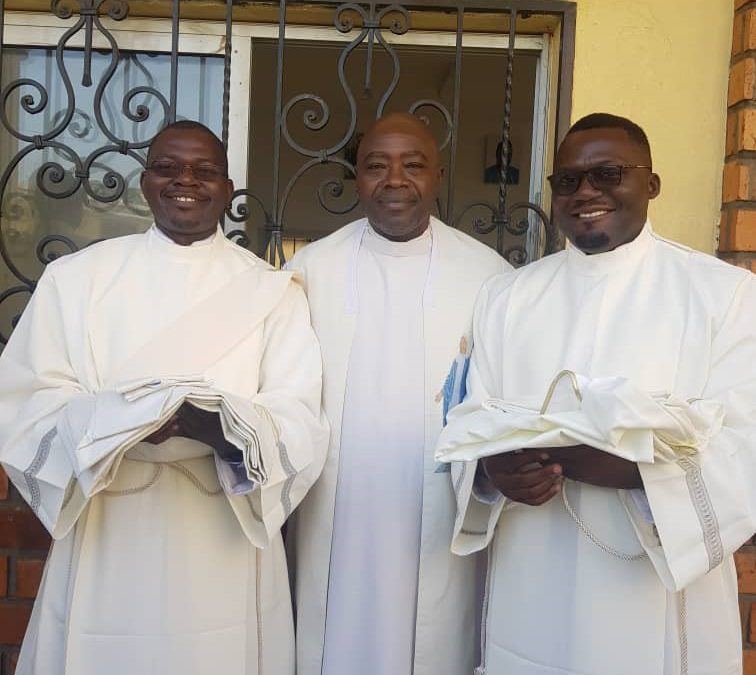 Serge Akoumou Bikoe's Diaconal Ordination, and Priestly Ordination of Julien Kounou