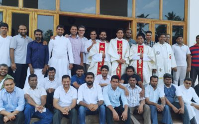 Vice-Province of India. Annual retreat and first mass of Fr. Shyne