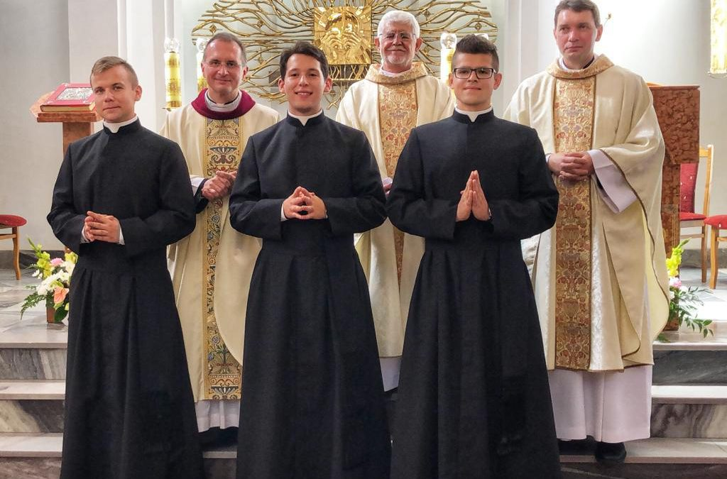 Province of Poland. Three novices make their Simple Profession