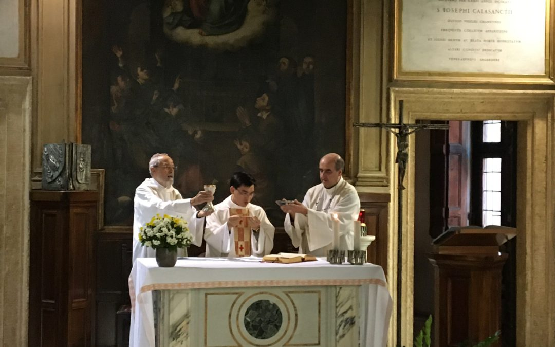 For the first time in San Pantaleo, a Vietnamese Piarist, he celebrates his first mass