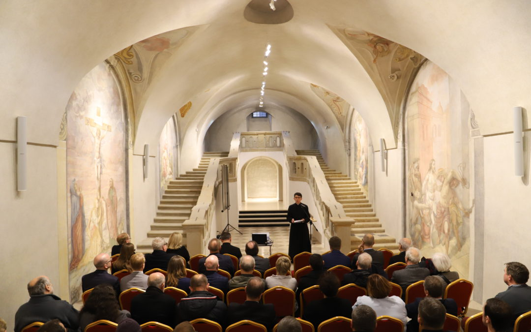 The crypt of the church of the Transfiguration of the Pious Schools in Krakow, restored
