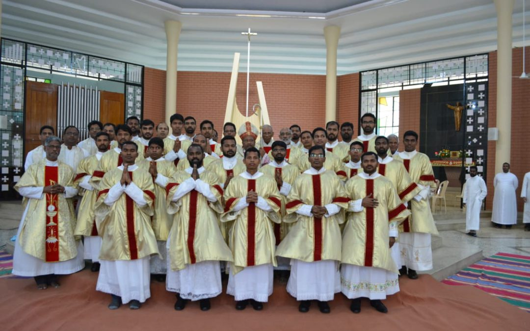 Solemn profession and diaconate ordination of Shanto and Karuna