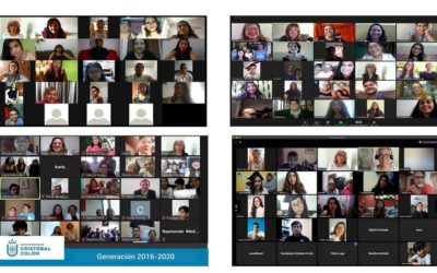 Virtual farewell meetings for license graduates, generation 2016-2020 of the Cristóbal Colón University
