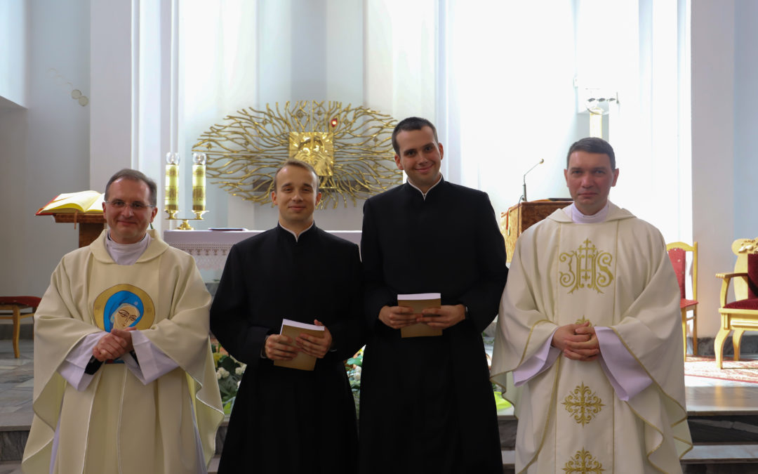 Province of Poland. Joy for the first profession of two novices