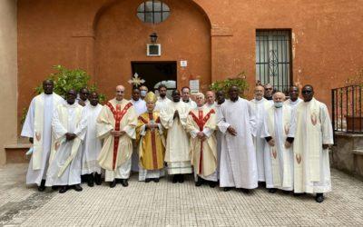 Casa General Calasanctianum de Monte Mario y la Provincia de África Central. Ordenación Diaconal de Bob Stevy Libendze